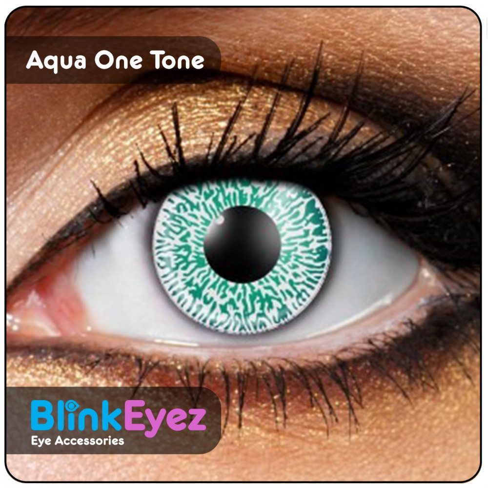 Aqua One Tone Coloured Contact Lenses