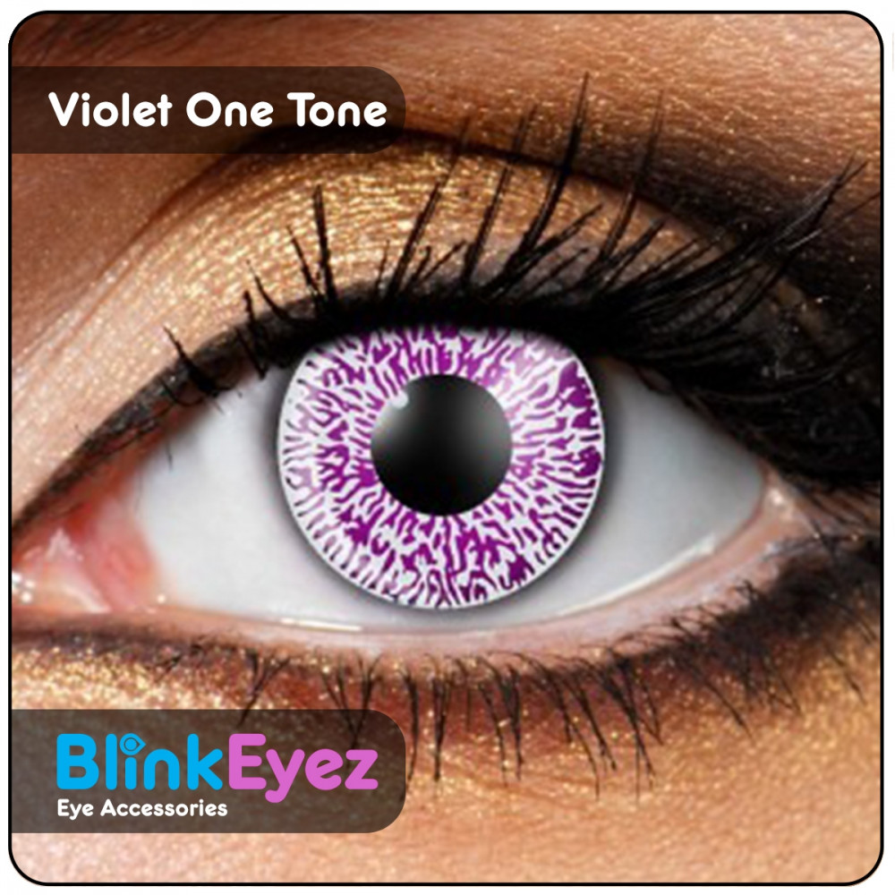 Violet One Tone Coloured Contact Lenses