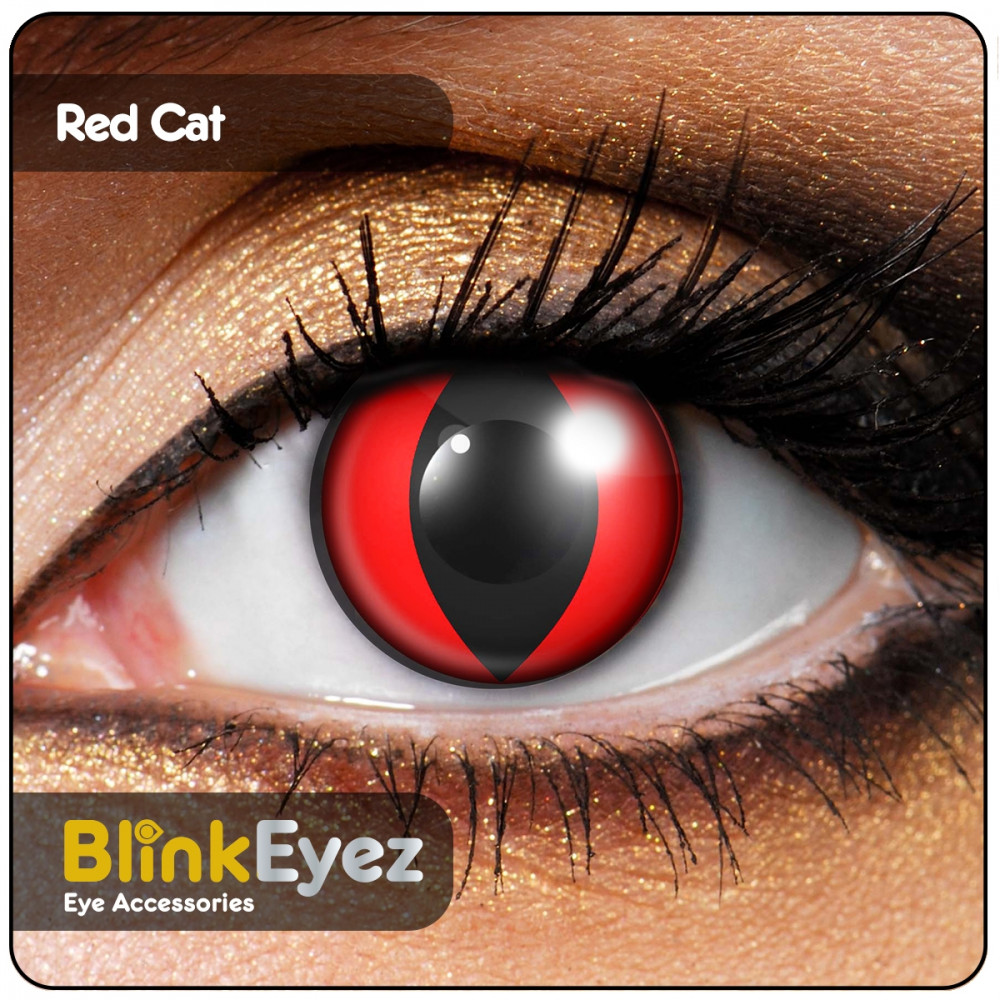 Red Cat's Eye Contact Lenses