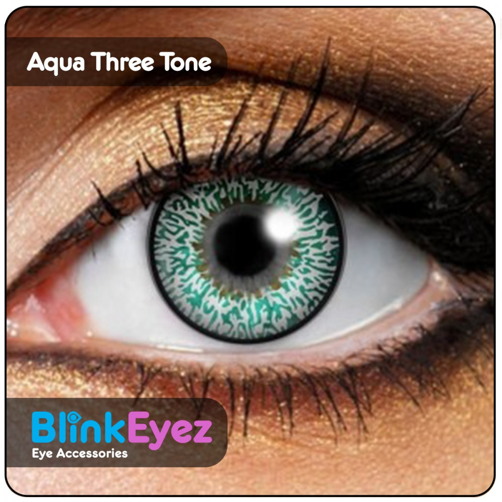 Aqua Blue Three Tone Contact Lenses
