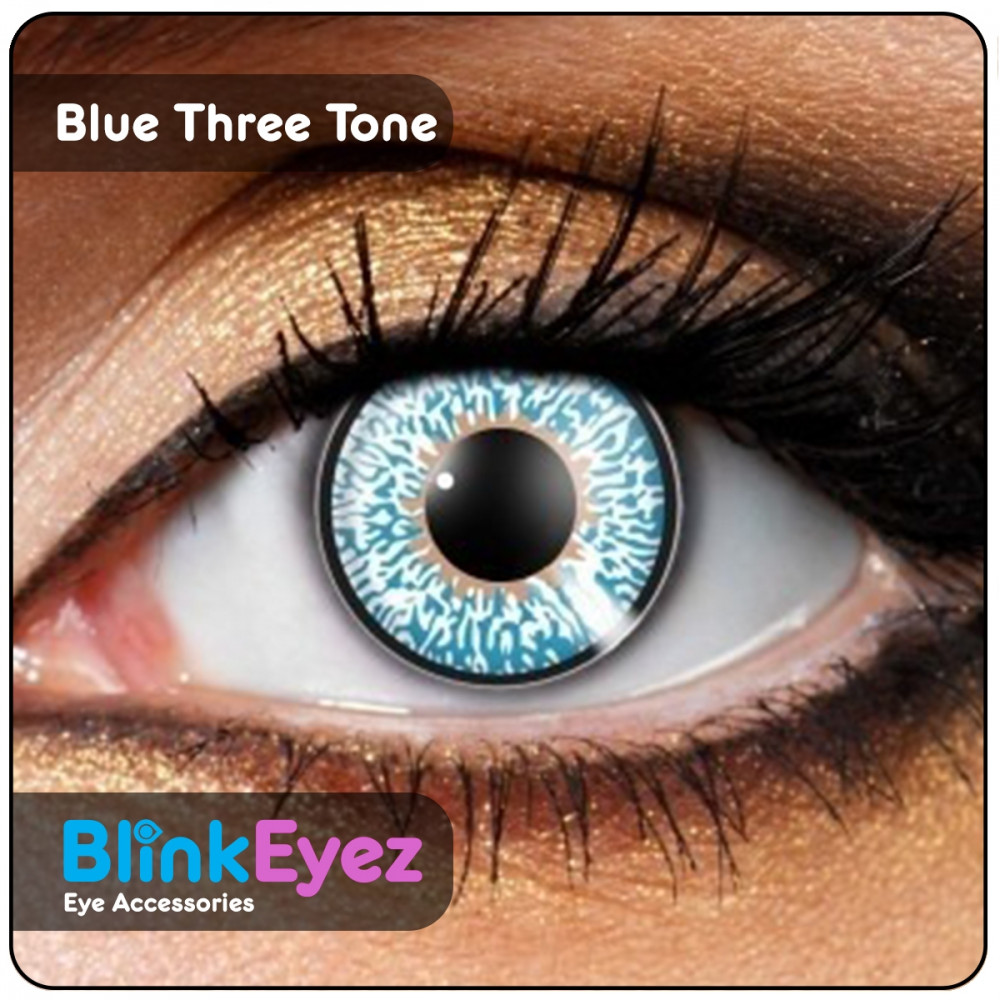 Blue Three Tone Coloured Contact Lenses