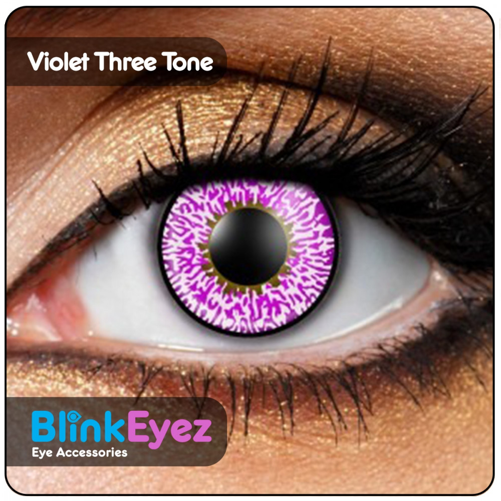 Violet Three Tone Coloured Contact Lenses