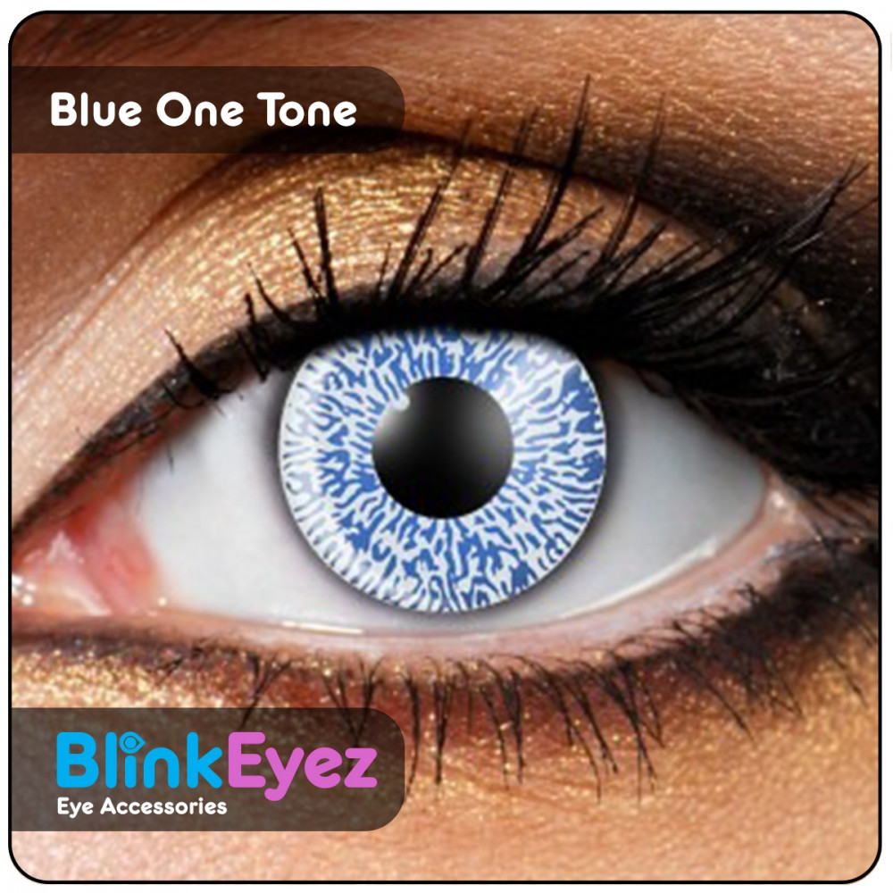 Blue One Tone Coloured Contact Lenses